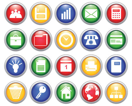 Business and office set of different web icons Stock Vector - 5744013