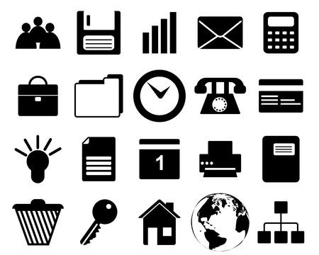rekenmachine: Bedrijfs- en kantoor verschillende web pictogrammen set