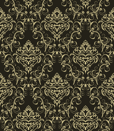 Damask seamless background.  For easy making seamless pattern just drag all group into swatches bar, and use it for filling any contours. Stock Vector - 5744036