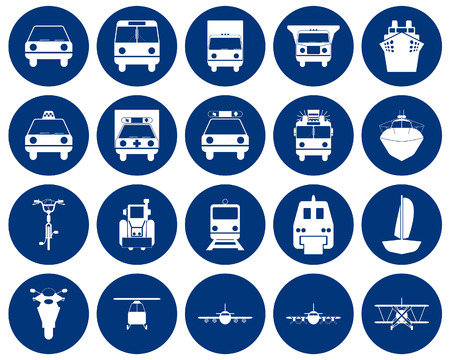 Transportation set of different web icons Stock Vector - 5744004