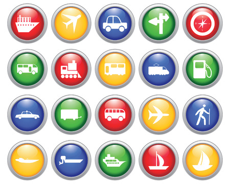 Transportation set of different web icons Stock Vector - 5744012
