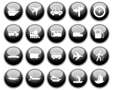 Transportation set of different web icons Stock Vector - 5744005