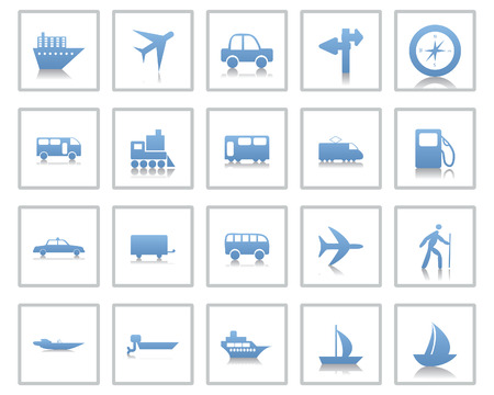 Transportation set of different web icons Stock Vector - 5744011