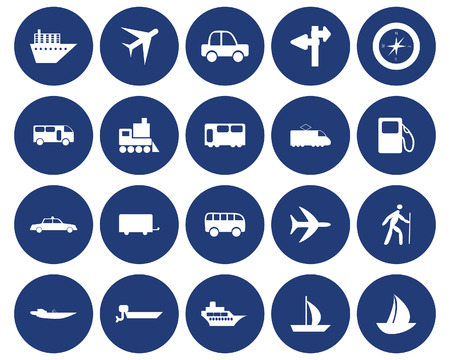 Transportation set of different web icons Stock Vector - 5743998