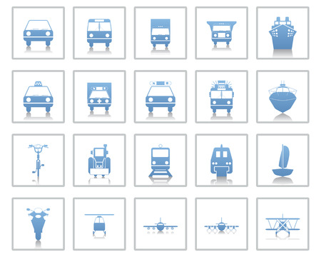 Transportation set of different web icons Stock Vector - 5745679