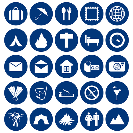 Travel set of different web icons Stock Vector - 5745655