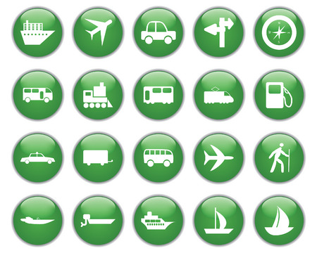 Transportation set of different vector web icons Stock Vector - 5762100