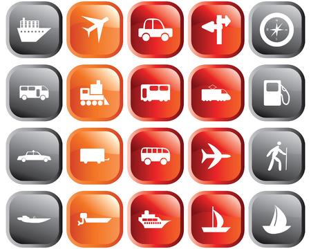 Transports ensemble d'icônes vectorielles Web différent
