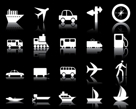 Transportation set of different vector web icons Stock Vector - 5762074