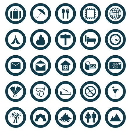 Travel set of different vector web icons Stock Vector - 5762076