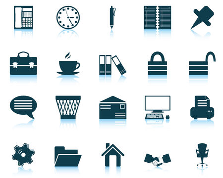 Business and office set of different vector web icons Stock Vector - 5762084