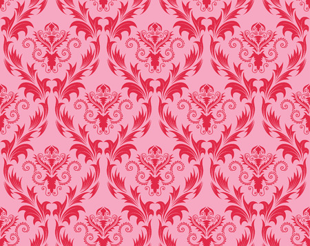 Damask seamless vector background.  For easy making seamless pattern just drag all group into swatches bar, and use it for filling any contours. Stock Vector - 5762097