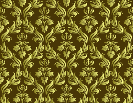 Damask seamless vector background.  For easy making seamless pattern just drag all group into swatches bar, and use it for filling any contours. Stock Vector - 5762101