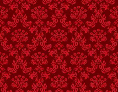 Damask seamless vector background.  For easy making seamless pattern just drag all group into swatches bar, and use it for filling any contours. Stock Vector - 5762102
