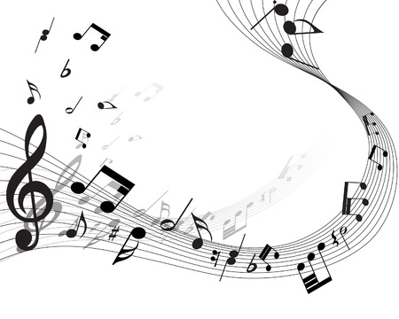 Vector musical notes staff background for design use Stock Vector - 5762085