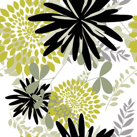 sketch pattern: Floral de vector transparente de fondo. Para f�cil patr�n transparente haciendo simplemente arrastre grupo todos en la barra de muestras y utilizarlo para llenar cualquier contornos.