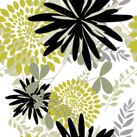 Seamless vector floral background. For easy making seamless pattern just drag all group into swatches bar, and use it for filling any contours. Stock Vector - 5762113