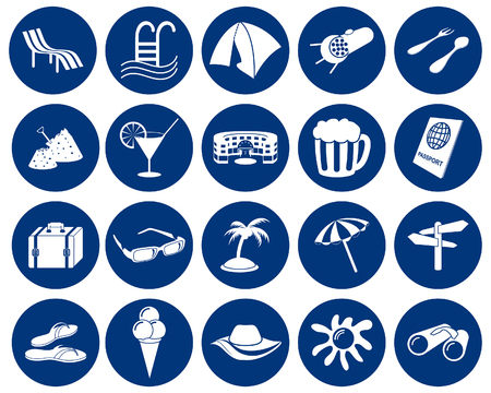 Travel set of different vector web icons Stock Vector - 5762112