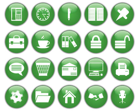 Business and office set of different vector web icons Stock Vector - 5804419