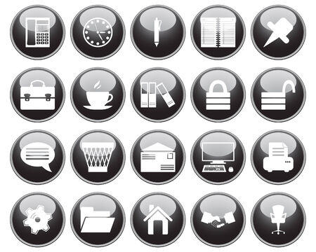 Business and office set of different vector web icons Stock Vector - 5804412
