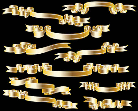 Set of different vector ribbons for design use Stock Vector - 5804426