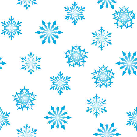 Seamless vector snowflakes background in different shapes Stock Vector - 5804417