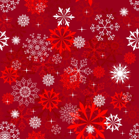 Seamless vector snowflakes background in different shapes Stock Vector - 5804450