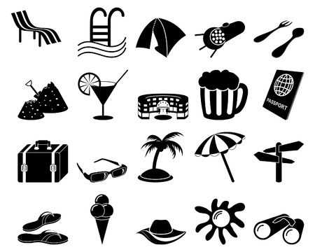 Travel set of different vector web icons Stock Vector - 5804411