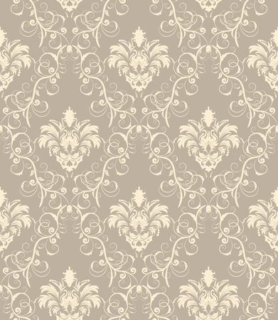 Damask seamless vector background.  For easy making seamless pattern just drag all group into swatches bar, and use it for filling any contours. Stock Vector - 5804619