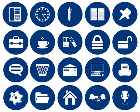 Business and office set of different vector web icons Stock Vector - 5804545