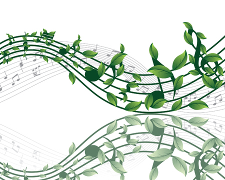 Vector musical notes staff background for design use Stock Vector - 5804571