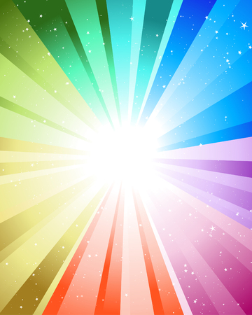 Festive rays with many stars. Vector illustration. Stock Vector - 5804598