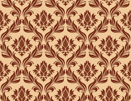 Damask seamless vector background.  For easy making seamless pattern just drag all group into swatches bar, and use it for filling any contours. Stock Vector - 5837832