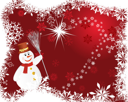 Beautiful vector Christmas (New Year) background for design use Stock Vector - 5868469