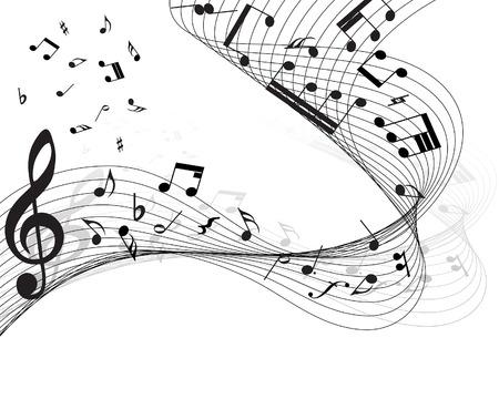 pentagrama musical: Vector musical toma nota de antecedentes de personal para su uso de dise�o