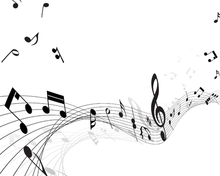 Vector musical notes staff background for design use Stock Vector - 5868387