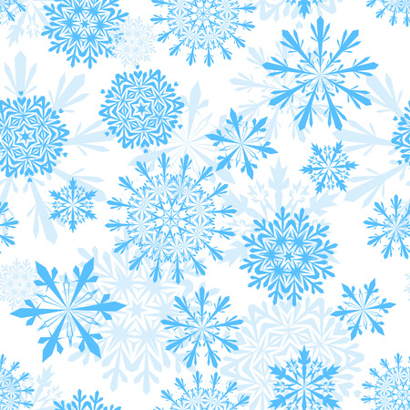 Seamless snowflakes background for winter and christmas theme Stock Vector - 5868399