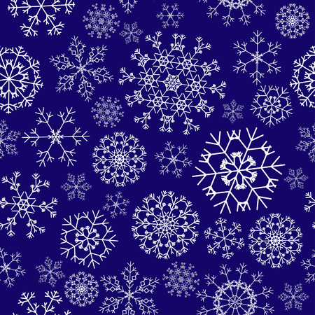 Seamless snowflakes background for winter and christmas theme Stock Vector - 5868437