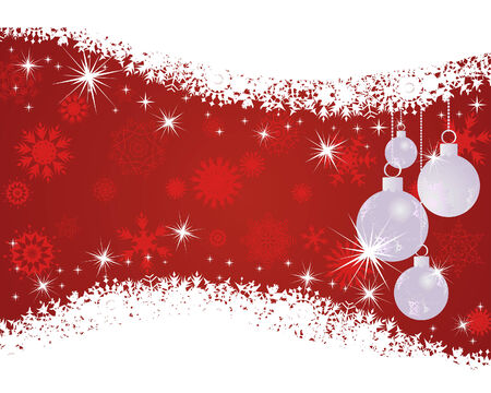Beautiful vector Christmas (New Year) background for design use Stock Vector - 5868465