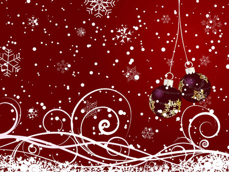 Beautiful vector Christmas (New Year) background for design use Stock Vector - 5868418