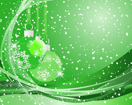 Beautiful vector Christmas (New Year) background for design use Stock Vector - 5868467