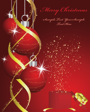 Beautiful vector Christmas (New Year) background for design use Vector