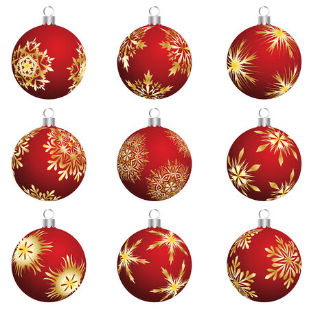 Set of Christmas (New Year) balls for design use. Vector illustration. Stock Vector - 5868402