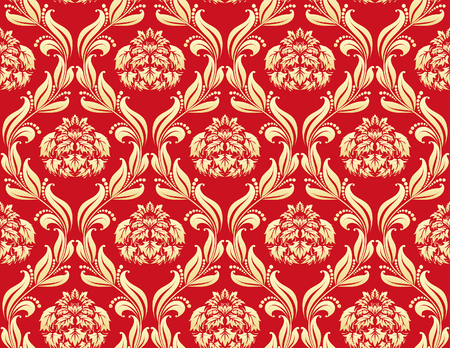 Damask seamless vector background.  For easy making seamless pattern just drag all group into swatches bar, and use it for filling any contours. Stock Vector - 5868463
