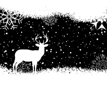 deers: Beautiful vector Christmas (New Year) background for design use