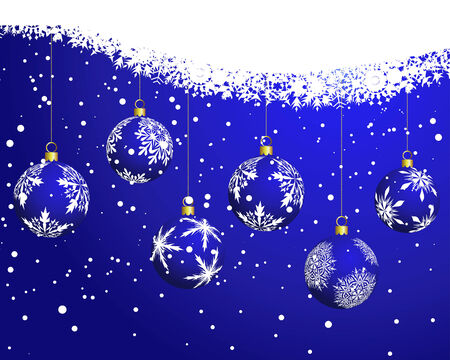 Beautiful vector Christmas (New Year) background for design use Stock Vector - 5868432