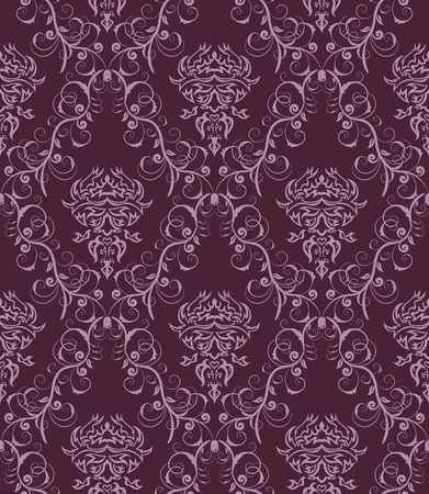 Damask seamless vector background.  For easy making seamless pattern just drag all group into swatches bar, and use it for filling any contours. Stock Vector - 5910802