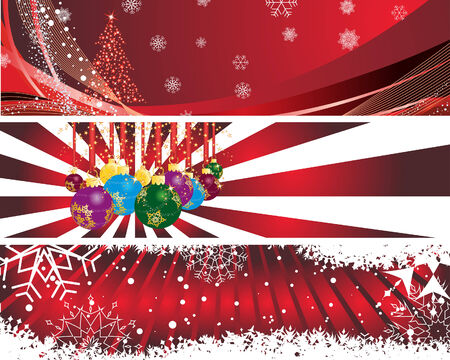 Vector Christmas (New Year) banners for design use Stock Vector - 5910822