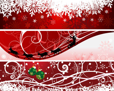 Vector Christmas (New Year) banners for design use Stock Vector - 5910821