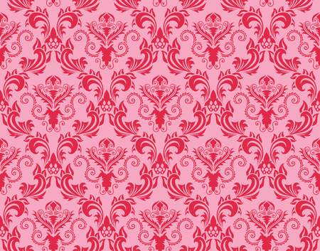 Damask seamless vector background.  For easy making seamless pattern just drag all group into swatches bar, and use it for filling any contours. Stock Vector - 5910801